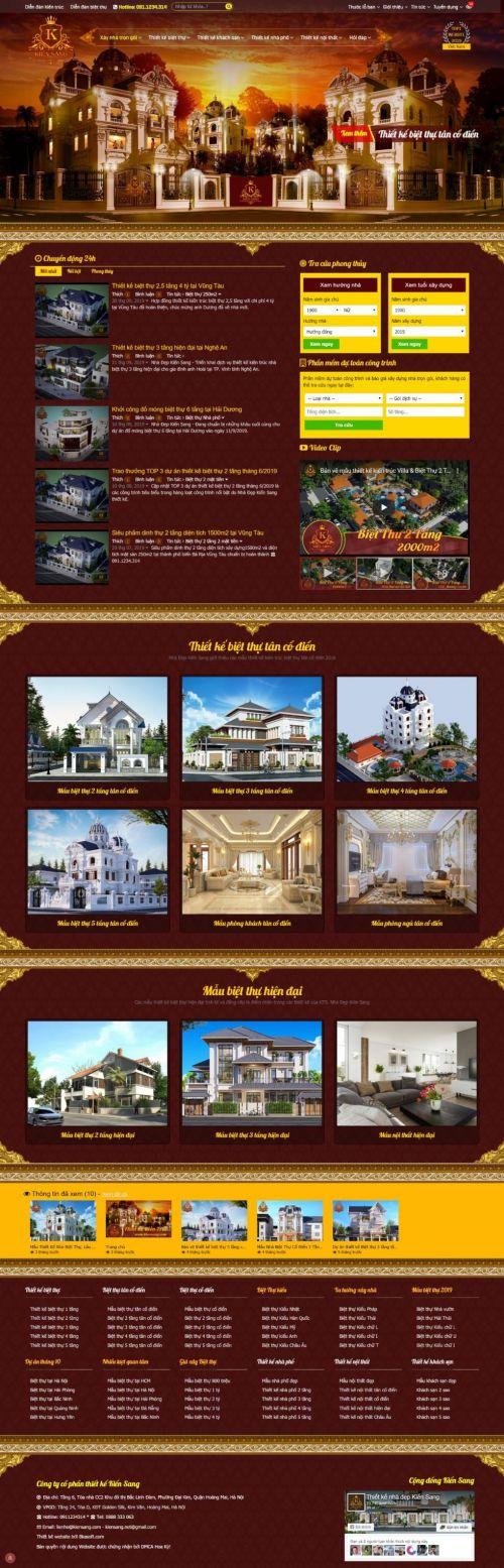 Tư vấn thiết kế website Kiến Trúc giống Kiến Sang