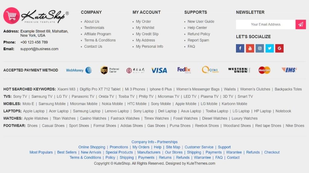 Thiết Kế Web bán hàng với Theme KuteShop WooCommerce