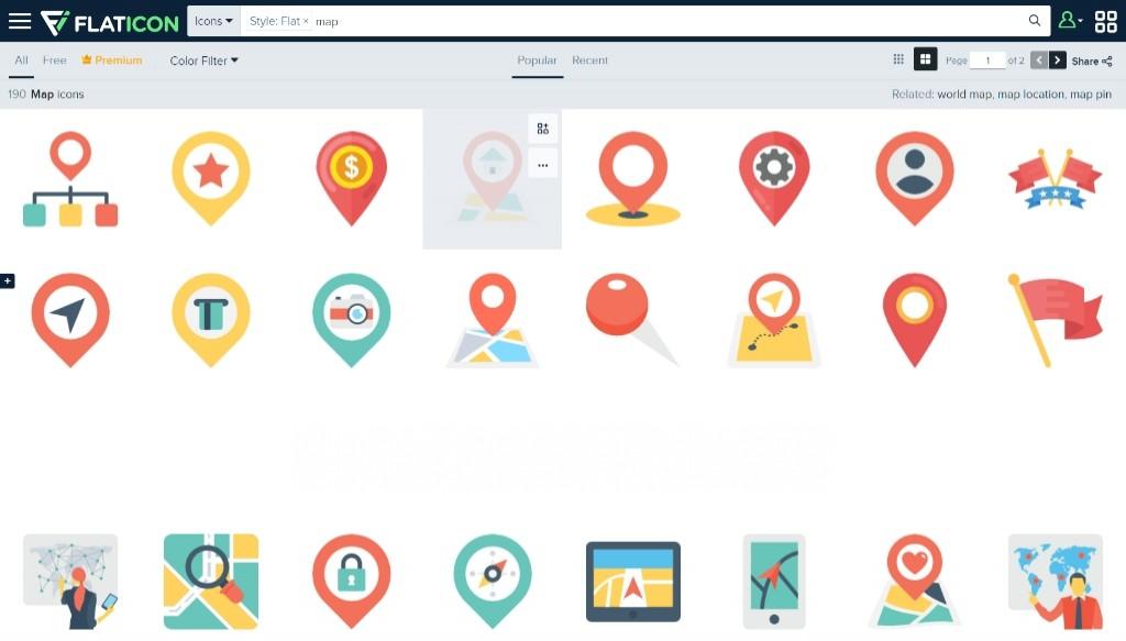 Kho icon SVG và PNG cực chất miễn phí trên FLATICON