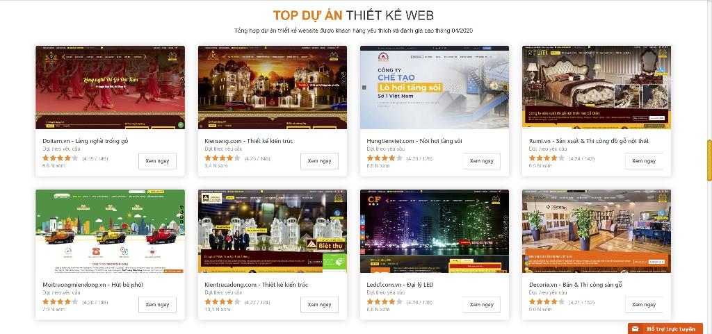 Những mẫu Website chuẩn SEO đẹp và chuyên nghiệp