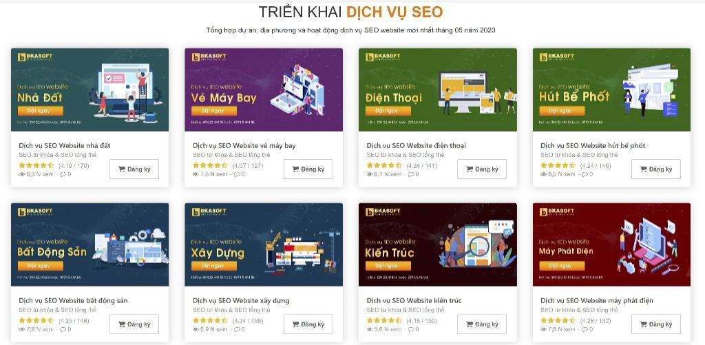 Báo giá dịch vụ SEO website tháng 5