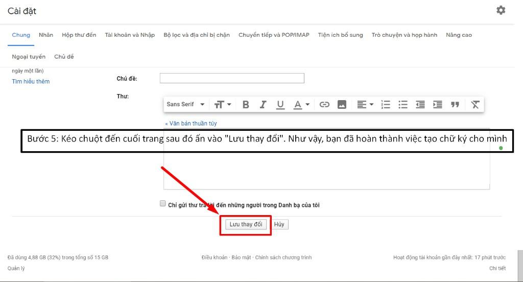 Hướng dẫn tạo chữ ký Gmail chuyên nghiệp
