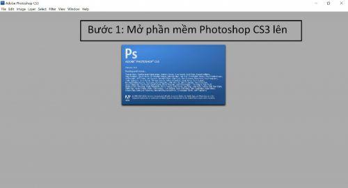 Cách mở tệp tin trong Photoshop CS3