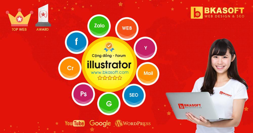 Diễn đàn Học Tập và Hỏi Đáp thiết kế đồ họa với Illustrator - BKASOFT