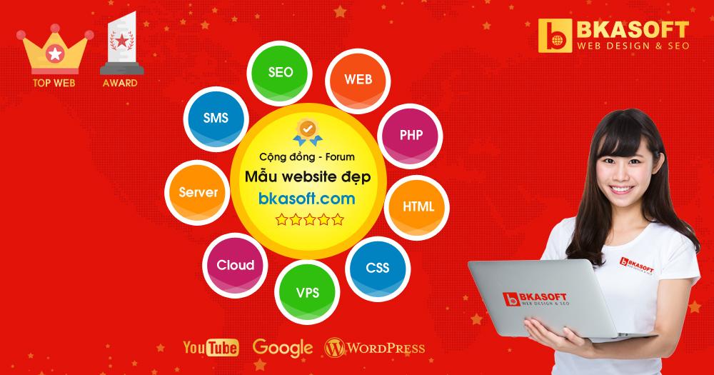 Mẫu thiết kế Web, kho giao diện Thiết kế Website đẹp chuẩn SEO - BKASOFT