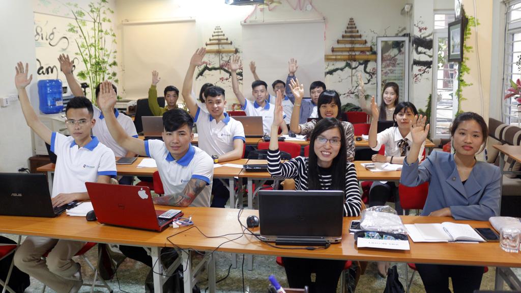 Học viên tham gia chương trình đào tạo SEO tại BKASOFT