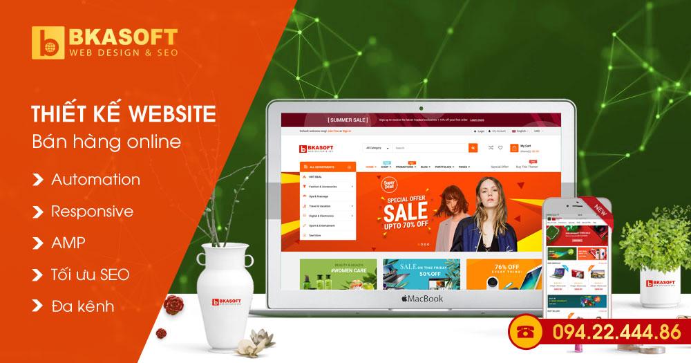 Thiết kế Web bán hàng, mua bán