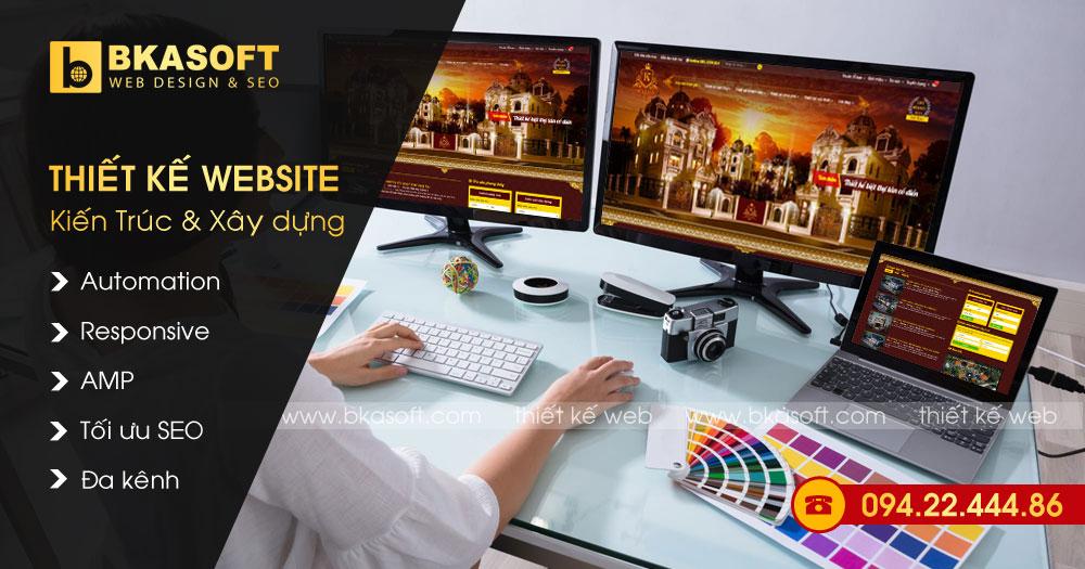 Thiết kế Web kiến trúc, xây dựng nhà