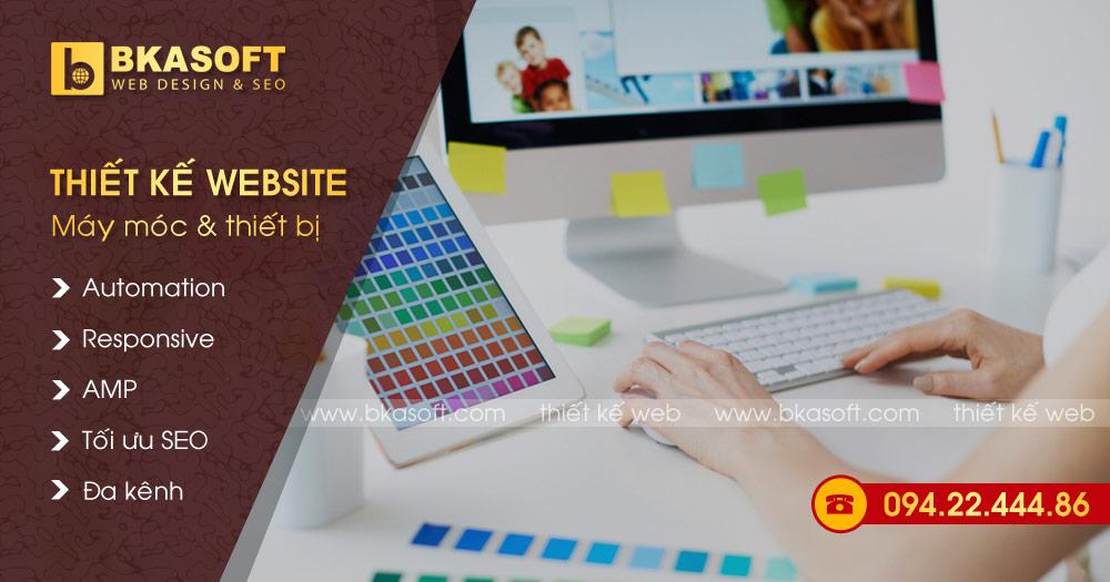 Thiết kế Web máy móc, vật tư và thiết bị
