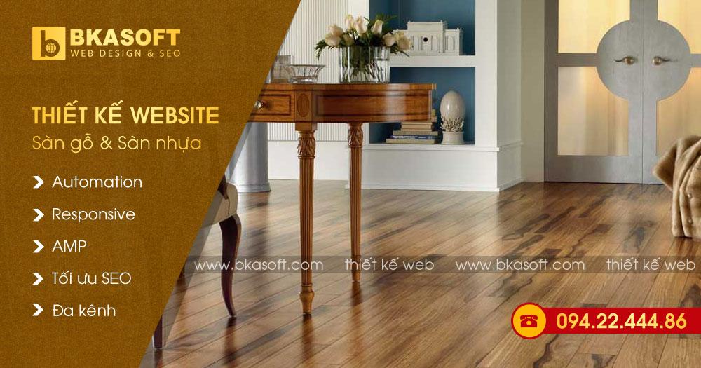 Thiết kế Web sàn gỗ, sàn nhựa và sàn gạch