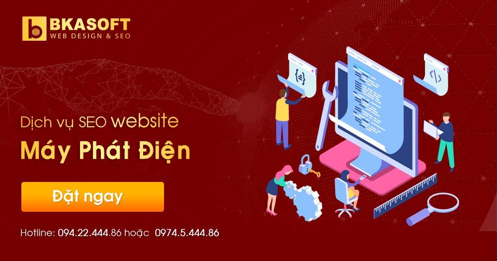 Dịch vụ SEO Website máy phát điện