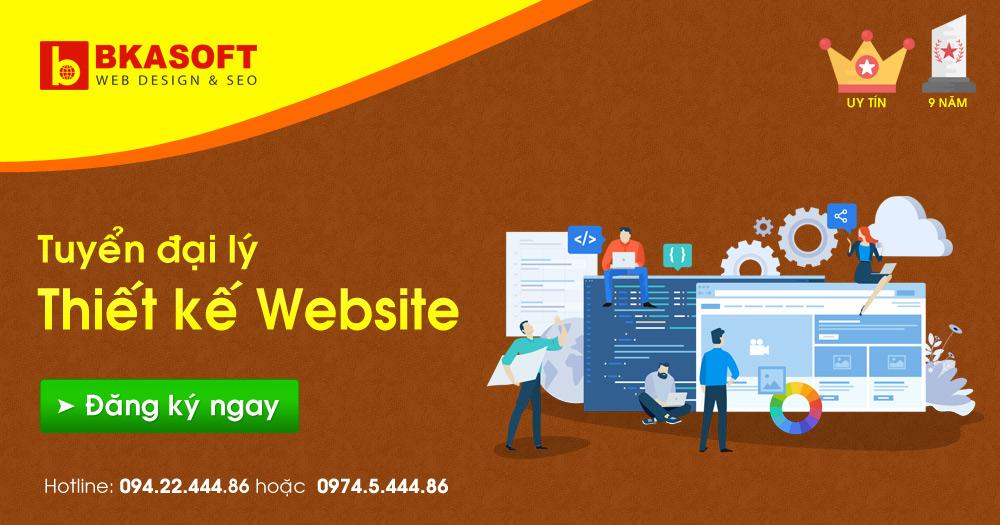 Tuyển đại lý thiết kế Website