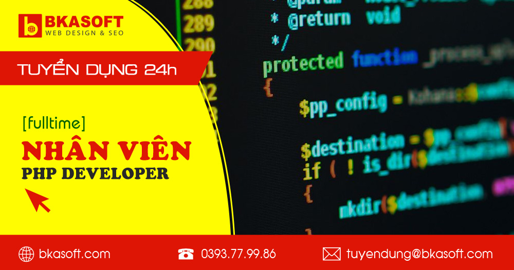 Tuyển lập trình viên PHP Developer tại Hà Nội