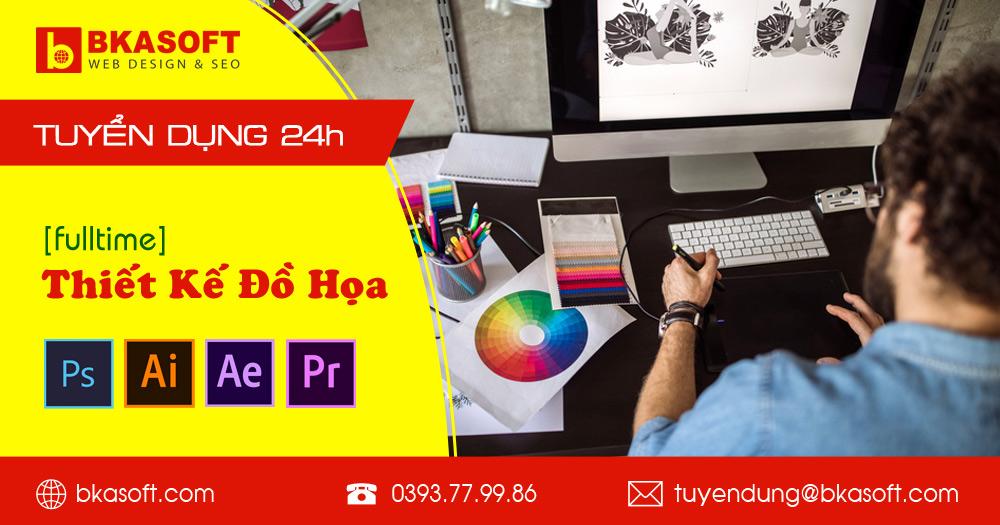 BKASOFT cần tuyển nhân viên thiết kế đồ họa fulltime tại Hà Nội, yêu cầu sử dụng thành thạo bộ công cụ thiết kế đồ họa Adobe #BKASOFT #SEO