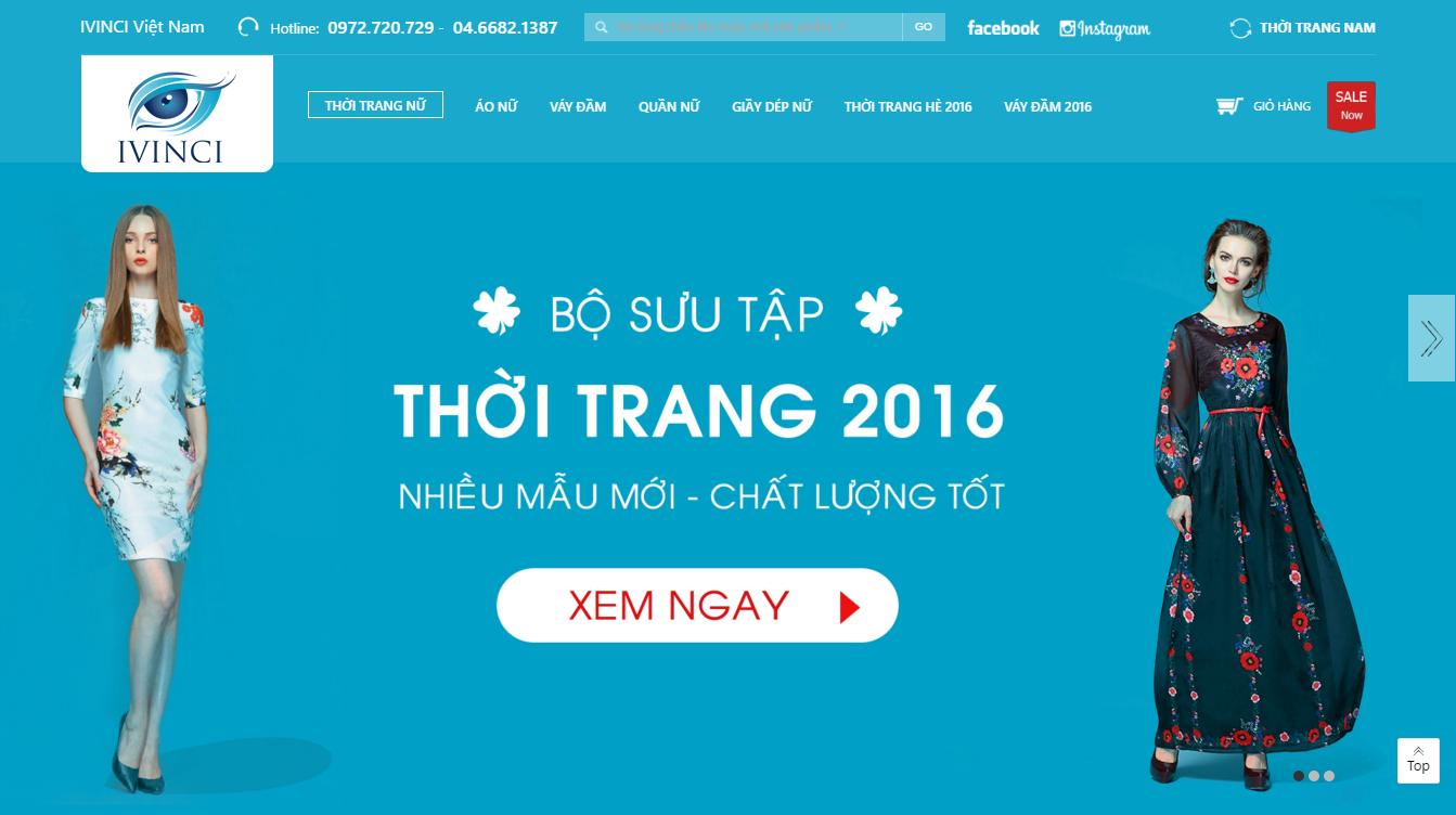 Hợp đồng thiết kế Website thời trang IVINCI.VN